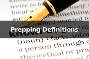 Prepping Terms And Definitions